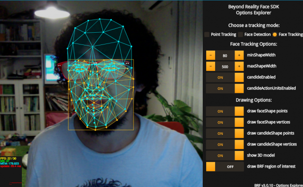 Beyond Reality Face Nxt   cross platform Face Tracking SDK for HTML5 Javascript and Flash Actionscript